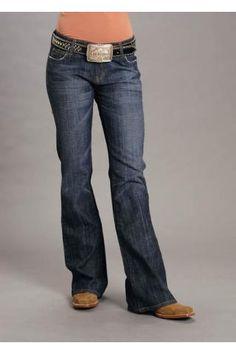 Classic Boot Cut Dark Wash Stretch Stetson Ladies- Jean Jeans Urban Western Wear