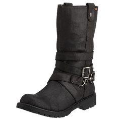 Rocket Dog Women's Chomps Black Biker Boots