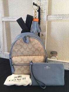 **NEW COACH CLASSIC** MINI CHARLIE Signature Backpack- Wristlet Bag Charm F58315 | eBay