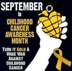 Childhood Cancer Awareness Month #ww #wordlesswednesday #linkup