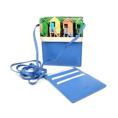 Krásná světle modrá dokladovka se samostatným pouzdrem na karty Magazine Rack, Storage, Home Decor, Purse Storage, Decoration Home, Room Decor, Larger, Home Interior Design, Home Decoration