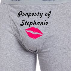 Personalized Property Of Lips Boxer Briefs