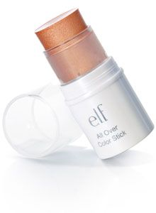 elf all over color stick in golden peach truly works for all over perfect if you are lazy with makeup (like me)