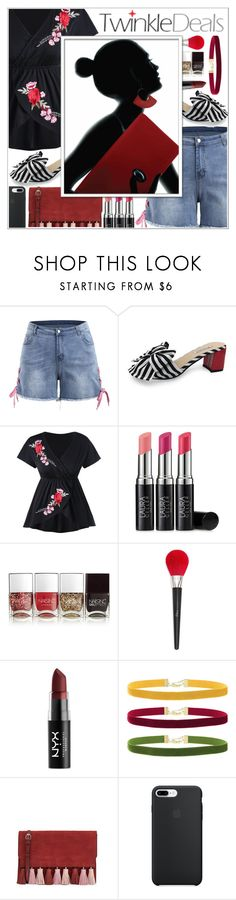 """""""Red Is The New Black ♥"""" by av-anul ❤ liked on Polyvore featuring Laura Geller, Nails Inc., Christian Dior, NYX, Rock 'N Rose, Rebecca Minkoff, topset, twinkledeals, avanul and MyPowerLook"""