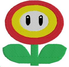Mario Fire Flower Machine Embroidery Pattern