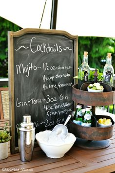 Summer Cocktail Station atthepicketfence.com