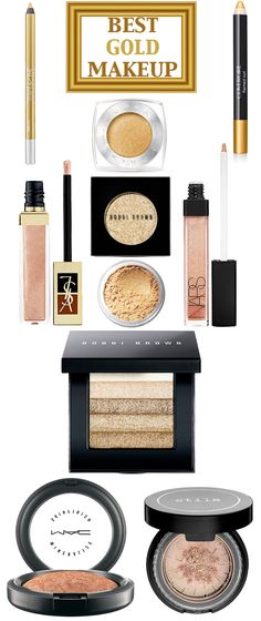 The best gold makeup to transition your summer look to fall.