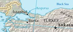 Map of the Turkish (Bosporus) Straits. World Oil, Black Sea, Middle East, Istanbul, Maps, Bible, Biblia, Cards, Map