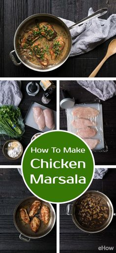 Chicken Marsala is an incredibly delicious Italian recipe that is surprisingly easy to prepare at home! This classic meal is made from chicken cutlets, mushrooms and Marsala wine. If you've never tried preparing a pan sauce before, this is a wonderful place to start. Recipe here: http://www.ehow.com/how_2307590_make-chicken-marsala-.html?utm_source=pinterest.com&utm_medium=referral&utm_content=freestyle&utm_campaign=fanpage