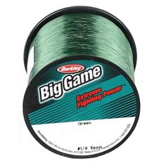 Berkley's ® Trilene Big Game Green Fishing Line provides extra fighting power for when you have the ultimate trophy fish on your line. This shock resistant line is abrasion resistant to hold up against rough or sharp objects. Make sure your big catch doesn't get away with The Trilene Big Game Fishing Line.