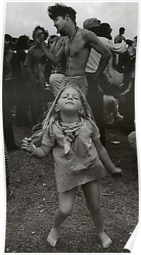 little girl dancing at Woodstock.....;This would have been me....no drugs, just dance and wear the clothes.... I love the hippy clothes and camping out under the stars like they did