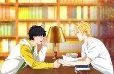 Eiji and Ash Sad Anime, Anime Manga, Anime Art, Anime Boys, Manhwa, Vocaloid, Banana Heart, Desenhos Love, Fish Wallpaper