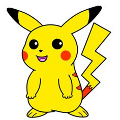 Step by step guide:  How to draw Pikachu