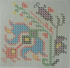 This Pin was discovered by müf Blackwork Embroidery, Folk Embroidery, Cross Stitch Embroidery, Embroidery Patterns, Cross Stitch Patterns, Knitting Patterns, Crochet Patterns, Ribbon Embroidery, Ancient Greek Art