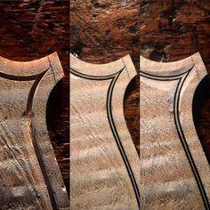 Violinmaking: Inlaying the Purflings #violinmaker #violins #violas #cellos #luthier