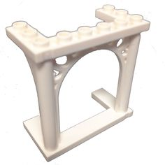 Lego Parts: Brick, Arch 3 x 6 x 5 Ornamented (White) Lego Factory, Sunshine Homes, Brick Arch, Lego Parts, Winter Wonder, Crystal Palace, Toys Shop, Legos, Stool