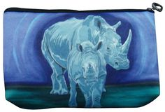 Rhino Cosmetic Bag by Salvador Kitti  On Sale by SalvadorKitti, $14.98