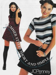 'Summer styles short and simple.' (1995) #JCPenney