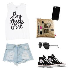 """""""#212"""" by sara-davila ❤ liked on Polyvore featuring Sephora Collection, Converse, Ray-Ban and Maison Margiela"""