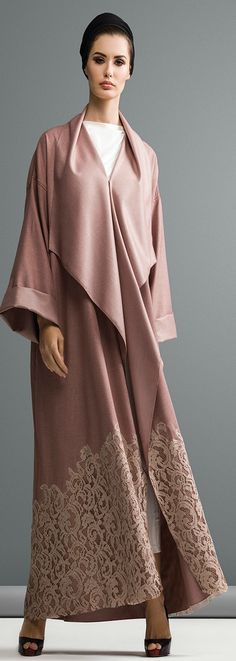 Mauzan abaya Dubai..Colored linen fabric Applique Lace