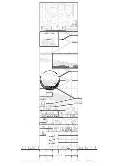 Block 19 ¾ - the conflict resolution terminal - KooZA/rch Architecture Drawings, Architecture Plan, Architectural Section, Architectural Presentation, Presentation Layout, Presentation Boards, Vertical City, Building Section, Plan Drawing