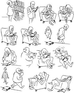 A book. Vintage cartoons by the Danish artist Herluf Bidstrup.