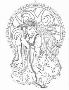 Amazon Goddess And Mythology Coloring Book Fantasy By