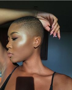 Exquisite Bald Hairstyles for Beautiful Ladies - Ani Exclusive Curly Hair Styles, Natural Hair Styles, Shaved Hair Designs, Bald Women, Hair Journey, Gorgeous Hair, Short Hair Cuts, Just In Case, Hair Inspiration