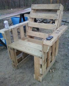I finally made a pallet chair!