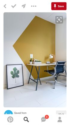 Office Wall Colors, Office Wall Design, Office Walls, Home Office Decor, Home Office Paint Ideas, Creative Office Decor, Office Mural, Creative Walls, Bedroom Office
