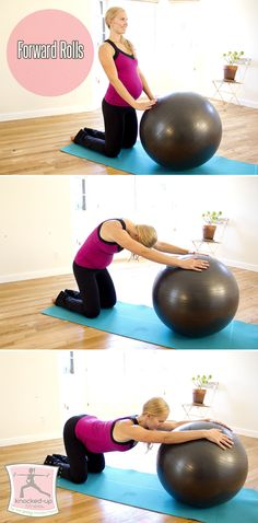 Prenatal & Postnatal Exercise: Forward Rolls. My clients LOVE this exercise during & after pregnancy