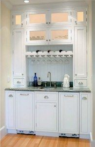 Wine Bar With Stem Glass Holder and Wine Rack - RTA Kitchen Cabinets & Bathroom Vanity
