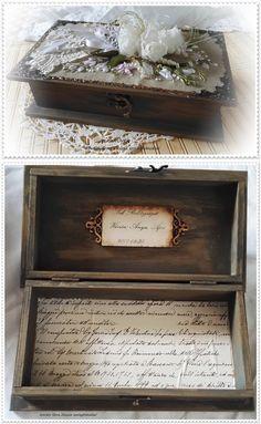 Vintage esküvői doboz