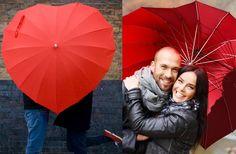 Regalador.com - Paraguas con forma de corazón para las más románticas