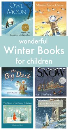 A great list of snowy books to read this winter!