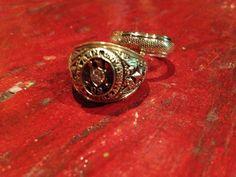 grooms wedding band + aggie ring.  Aggie wedding