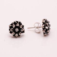 925 Solid Sterling Silver Stud Earrings, Designer Fine Jewelry 4.2 gm, FE72…