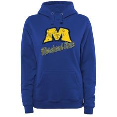 Morehead State Eagles Women's Plus Sizes Slant Script Pullover Hoodie - Royal - $49.99