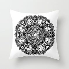 Buddha Mandala Throw Pillow by brittbolduc - $20.00