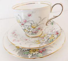 Vintage Paragon Bone China Tea Cup and Saucers