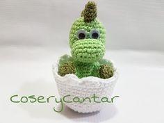 Crochet Dinosaur, Crochet Animal Amigurumi, Crochet Animal Patterns, Stuffed Animal Patterns, Crochet Animals, Crochet Toys, Knitting Patterns, Easter Crochet, Cute Crochet