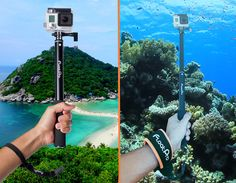 - 100% aluminum alloy all-in-one selfie pole. Compatible with all GoPro Heroes. Super versatile with direct GoPro mount, camera mount, phone mount, and tripod mount. Perfect for digital camera, DSLR,