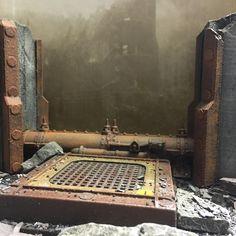 Industrial terrain. #Warhammer40k #gamesworkshop #horizoncreation3d #warhammerterrain