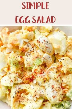 This easy to make Egg Salad is perfect for anyone following the Weight Watchers plans. A tasty WW lunch recipe that is 1 SmartPoint per portion on Weight Watchers Purple, Blue and (the old) Freestyle plans and 5 SmartPoints on the Green plan. #weightwatcherslunchrecipes #weightwatchers #freestyle #wwblueplan #wwgreenplan #wwpurpleplan #wweggsalad Weight Watchers Pasta, Weight Watchers Lunches, Weight Watchers Meal Plans, Weight Watcher Dinners, Weight Watchers Chicken Salad Recipe, Weight Watchers Desserts, Ww Recipes, Lunch Recipes, Egg Benedict