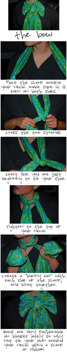 How to make your Lilly Pulitzer Murfee Scarf into a BOW!