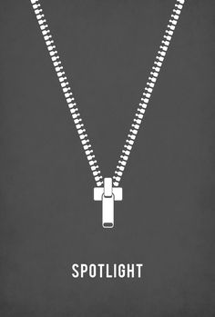 Spotlight (2015) ~ Minimal Movie Poster by I. Stephens ~ Oscars 2016 Nominees #amusementphile