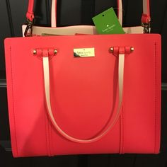 Brand new Kate spade bag Brand new with tag coral pink cross body/ shoulder bag...100% authentic  no trade  kate spade Bags Crossbody Bags