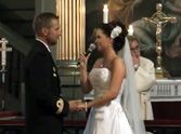 Bride Surprises her Groom with a Romantic Song - Not a Dry Eye in the House!