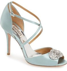 Badgley Mischka Badgley Mischka 'Sari' Crystal Open Toe Sandal (Women)