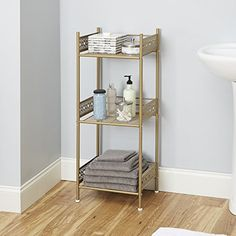 Filigree Bathroom Collection Gold Bathroom Shelf at Lowe's. Make the most of your bathroom with the Filigree bathroom floor shelf, multiple colors. This floor shelf features design shelves accented with Bathroom Flooring, Bathroom Furniture, Living Room Furniture, Home Furniture, Antique Furniture, Modern Furniture, Rustic Furniture, Outdoor Furniture, Furniture Makeover